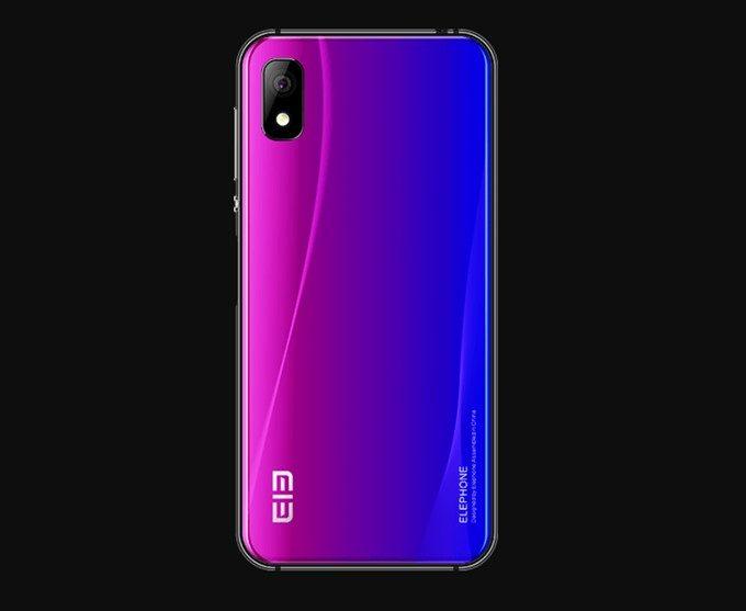 Elephone A4 Proの背面カラーは光の当たり具合で表情を変える美しいレイヤーカラー