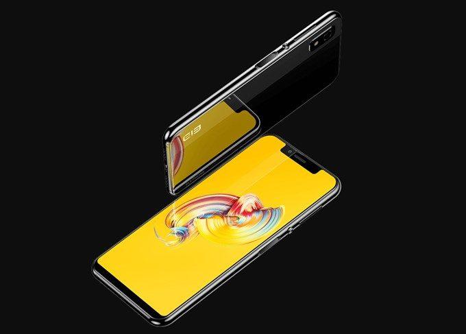 Elephone A4 Proは背面にもガラスパネルを採用