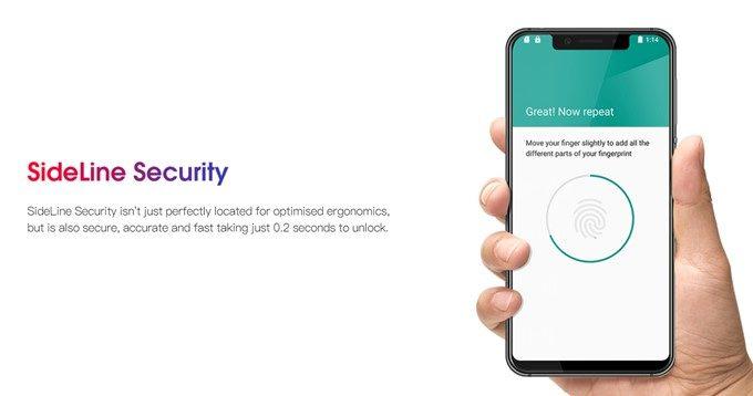 Elephone A4 Proは指紋認証ユニットを搭載!