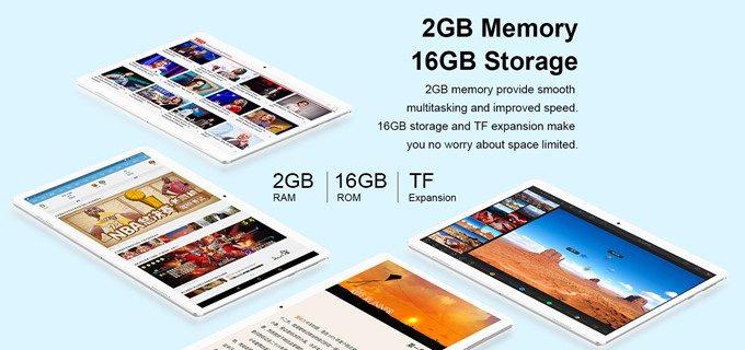 Teclast A10Hの初期保存容量は少ないですがMicroSDで最大128GBまで拡張が可能です。