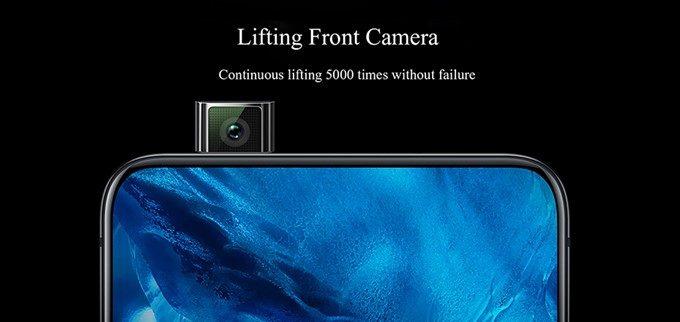 Vivo NEXは機械的なリフトアップ式のインカメラを搭載しています。