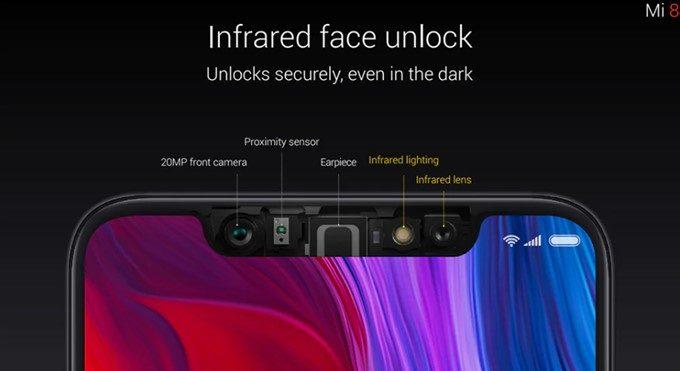 Xiaomi Mi 8はインカメラだけでなく赤外線センサーや3dセンサーを利用するので精度が非常に高いです。