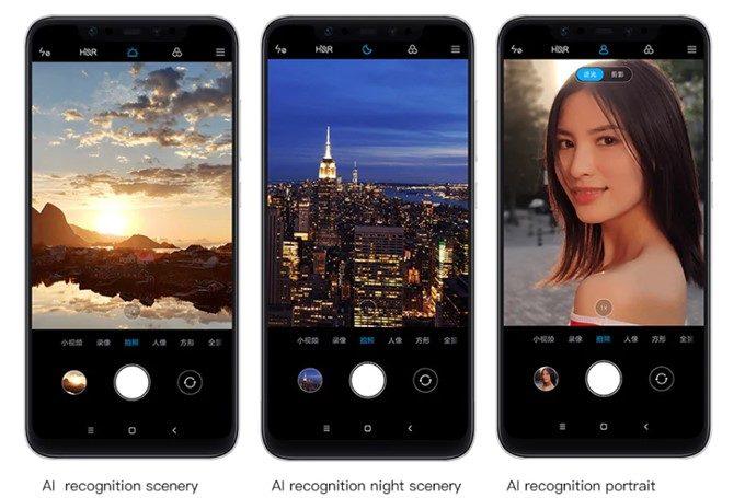 Xiaomi Mi 8のカメラはAIによりシーンを自動識別して写真を撮影することが出来ます。