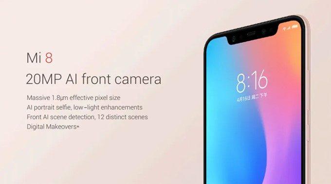 Xiaomi Mi 8はインカメラにもAIを搭載しているので、美しい自撮りを楽しめます。