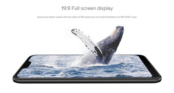 Xiaomi Mi A2 Liteは安価ながら先進的な切り欠け縦長ディスプレイを採用。解像度もFHD+で高解像度となっています!
