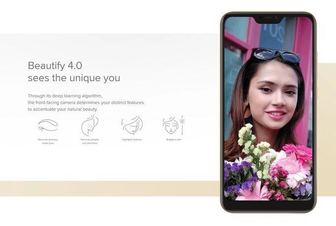 Xiaomi Mi A2 Liteは500万画素のインカメラを備え、学習アルゴリズムで撮影者の顔を個々に特徴をとらえ、素敵な写真が撮影可能となっています。