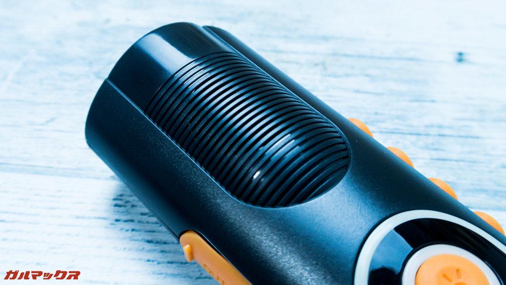 防災ラジオライト進化版のスピーカーは本体上部