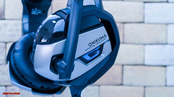 ONIKUMAゲーミングヘッドセットK5の外観はほとんどが樹脂なので傷が付きやすいです。