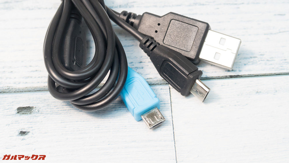 Anfurig A2の充電ケーブルは2台のAnfurig A2を充電するための2又ケーブルが付属しています。