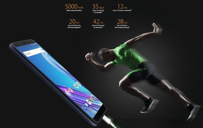 ASUS Zenfone Max Pro (M1)は5000mAhの超大容量バッテリーを搭載しています。