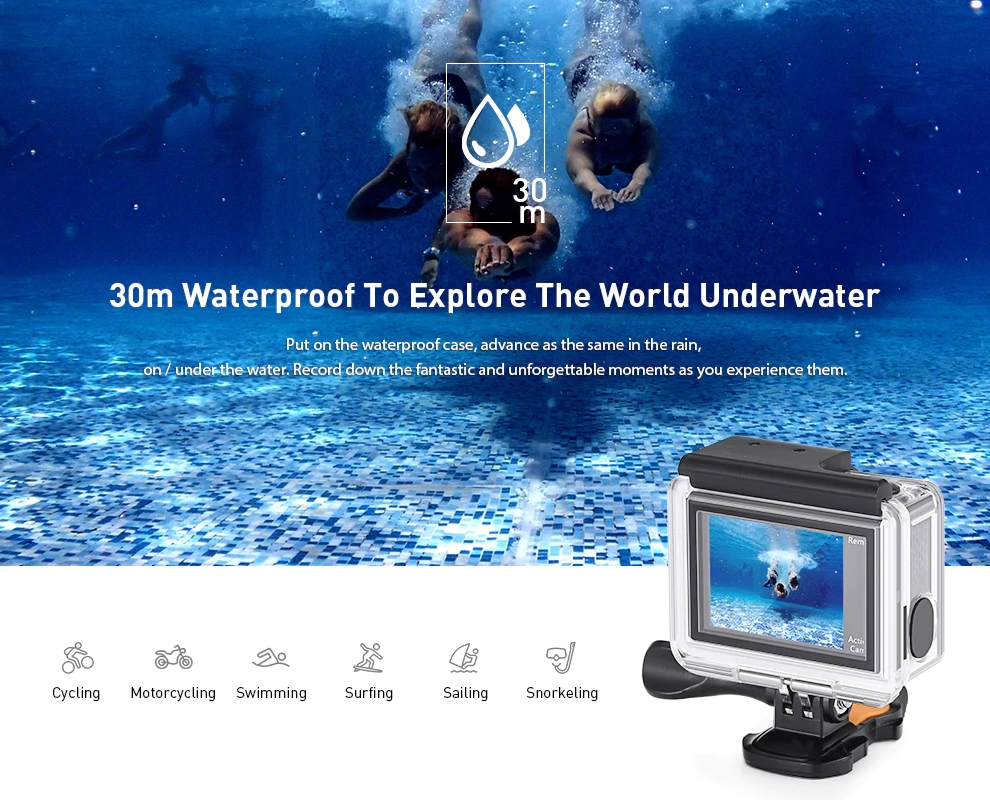 Alfawise V50 Proは30m防水ケースも標準付属!
