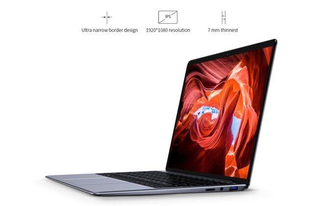 CHUWI LapBookは13.3型ディスプレイにFHD/IPSパネルを採用しているので美しい映像を楽しめます。
