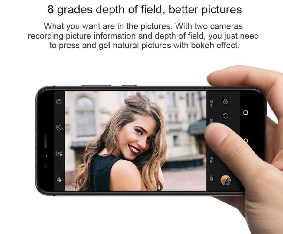 Lenovo S5はボケ味撮影にも対応しています。