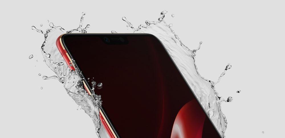 OPPO R15 ProはIPX7の防水仕様です。