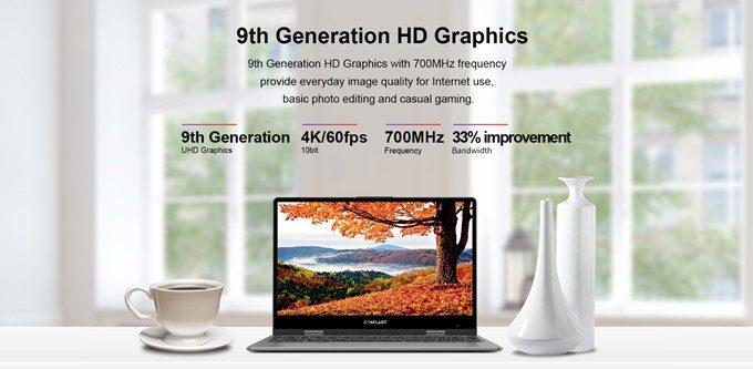 Teclast F5はIntel UHD Graphics 600 GPUを搭載しているので4K60FPSの再生にも対応。カジュアルゲームも快適に動作する性能を持ち合わせています。