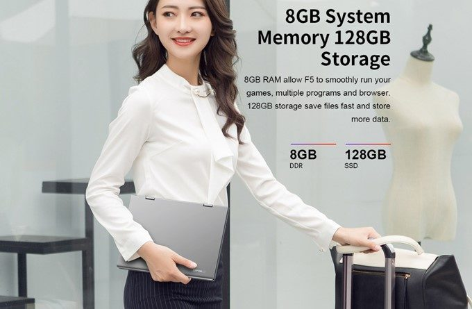 Teclast F5は大容量なメモリ8GBと高速なSSD 128GBを搭載