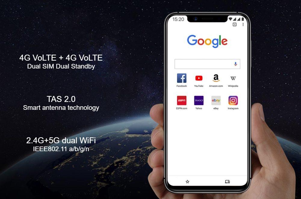 [UMIDIGI One]と[UMIDIGI One Pro]は4G+4GのDSDVに対応している