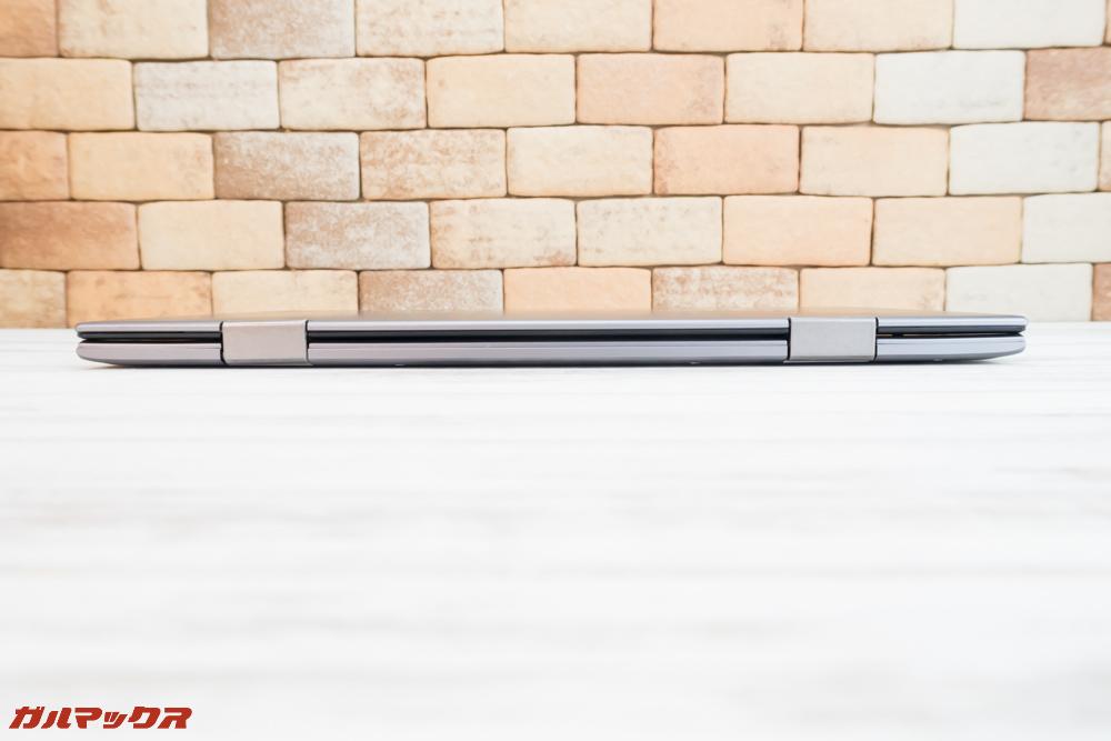 Teclast F5はディスプレイが360度回転する回転ヒンジを採用しています。