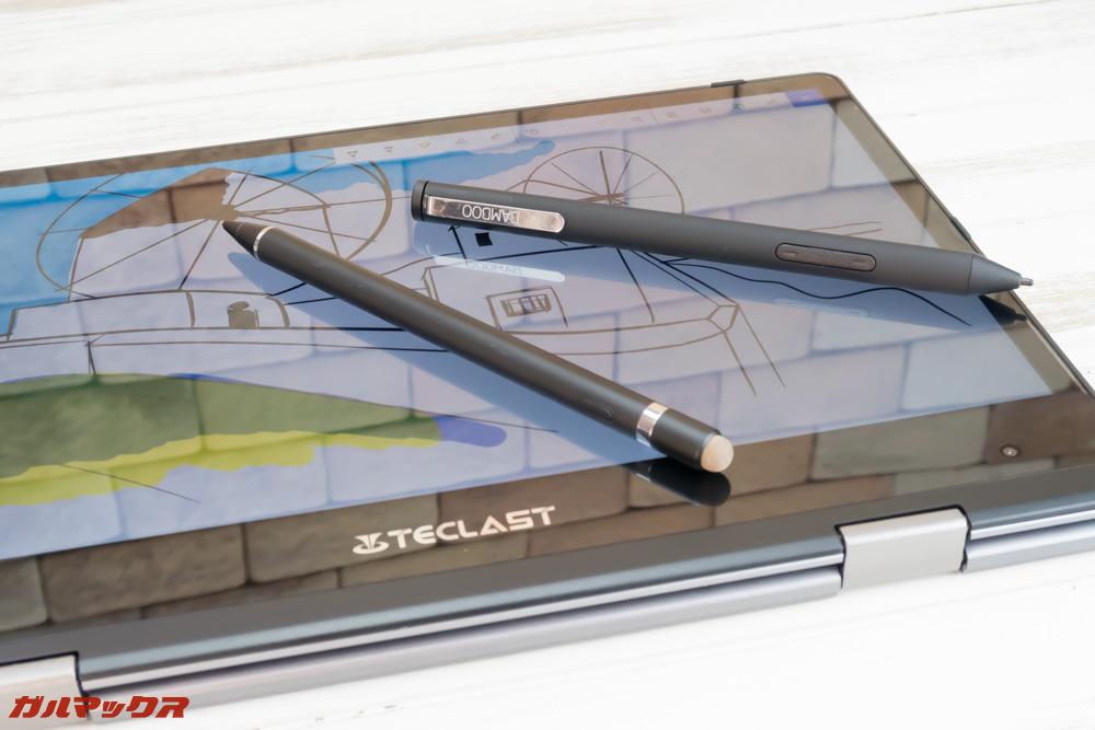 Teclast F5は専用のスタイラスペンじゃないと動かない可能性が高いです。