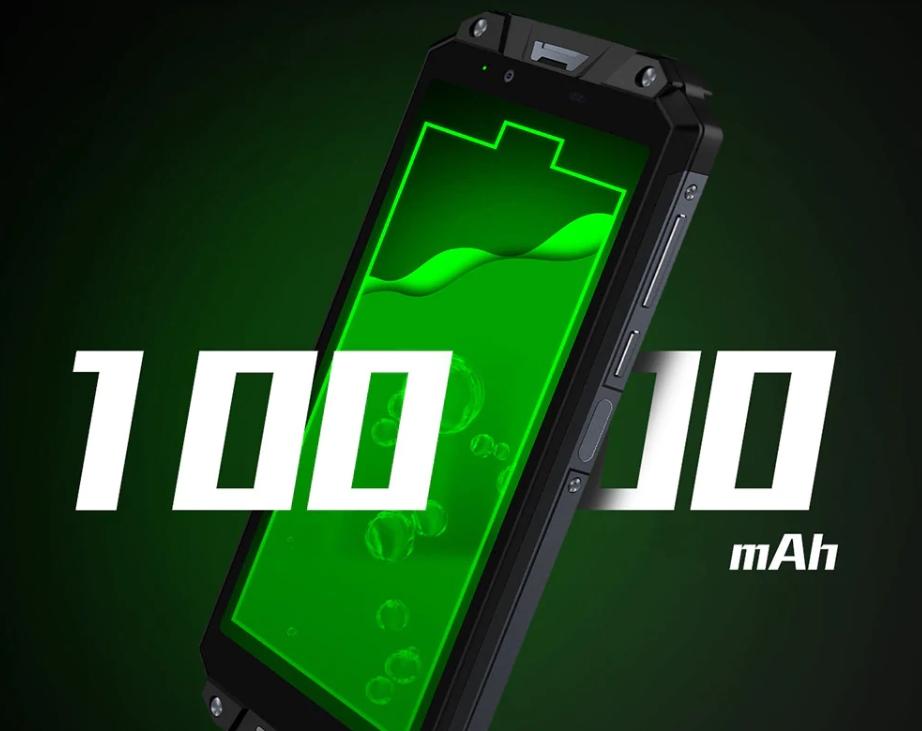 OUKITEL WP2は10000mAhの大容量バッテリーを搭載