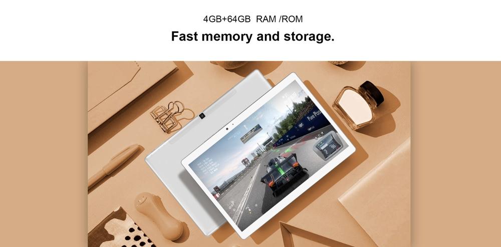 Teclast T20はメモリ4GBで必要十分な搭載量となっています。