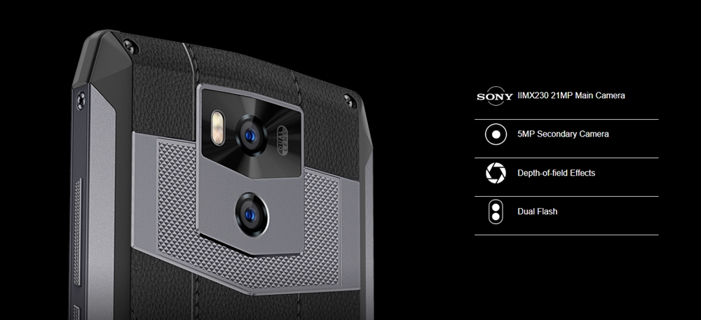 Ulefone Power 5はIMX230を搭載した高画素な21MPセンサーを搭載しています。