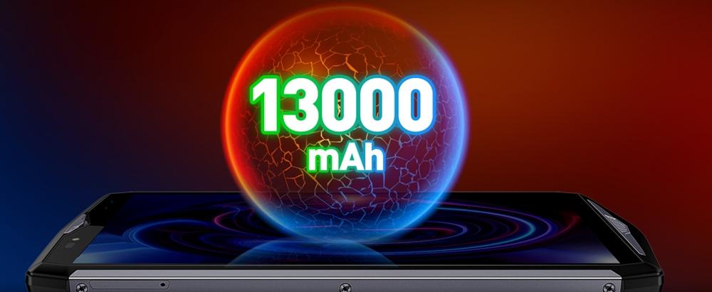 Ulefone Power 5は13000mAhの超大容量バッテリーを搭載しています。