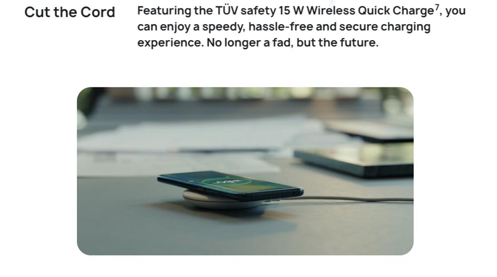 HUAWEI Mate 20 Proは15Wのワイヤレス充電に対応している