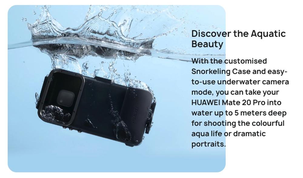 HUAWEI Mate 20 Proは防水ケースが純正発売予定
