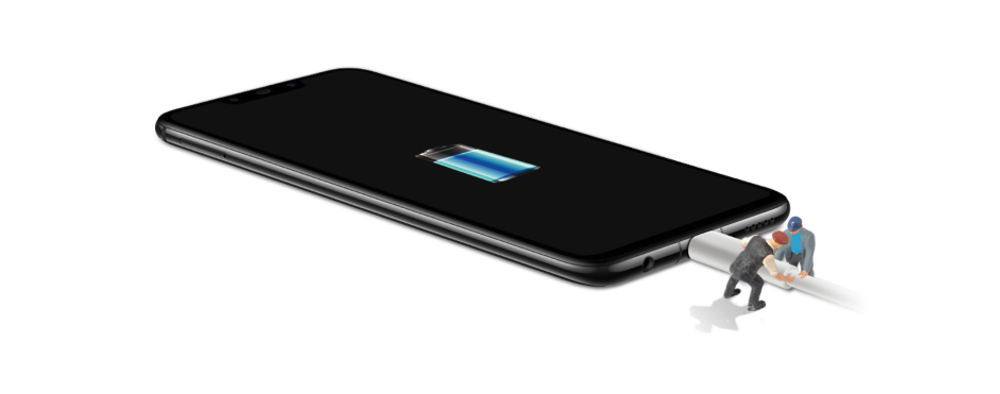 Huawei nova 3は大容量バッテリーを搭載し急速充電にも対応している