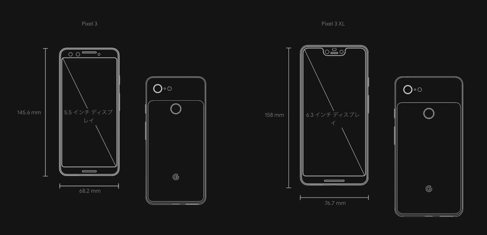 「Pixel 3」と「Pixel 3 XL」