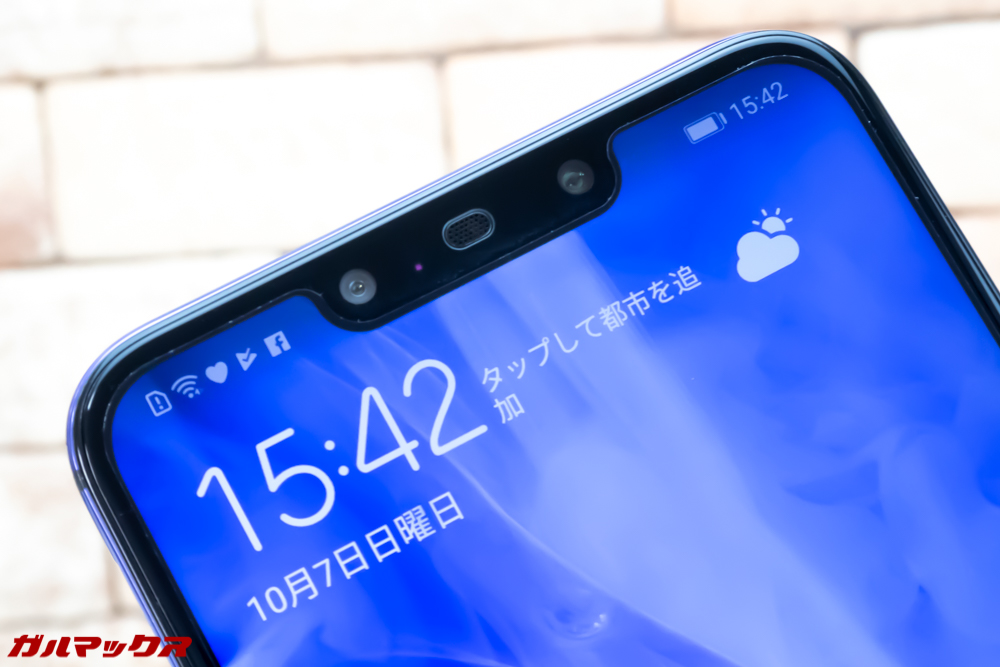 Huawei nova 3のディスプレイはノッチ付き!