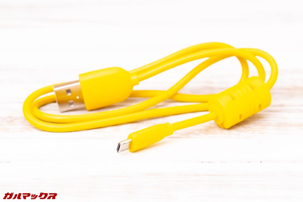 MiFa A30はMicroUSBケーブルが付属しています。