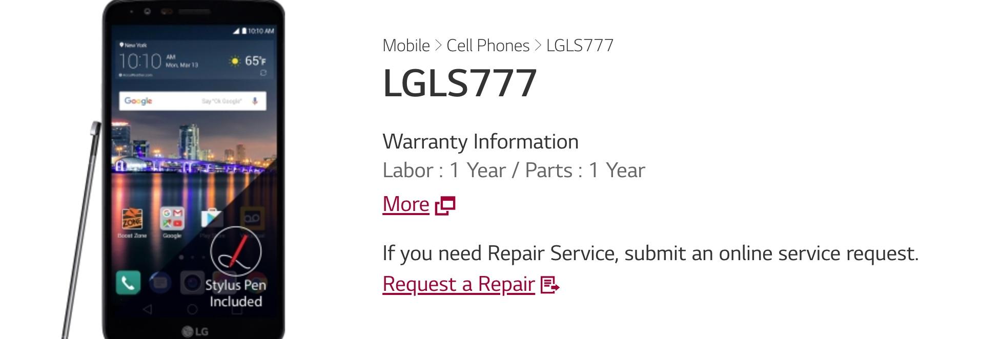 LG Stylus 3/LS777