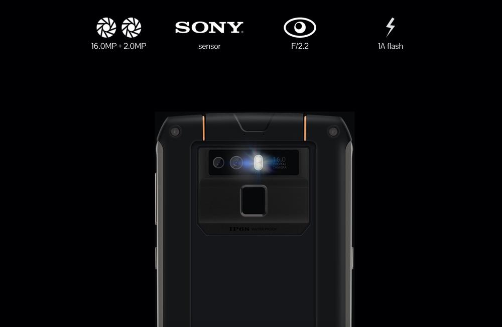 CUBOT King Kong 3のカメラは1600万画素+200万画素のデュアルカメラ