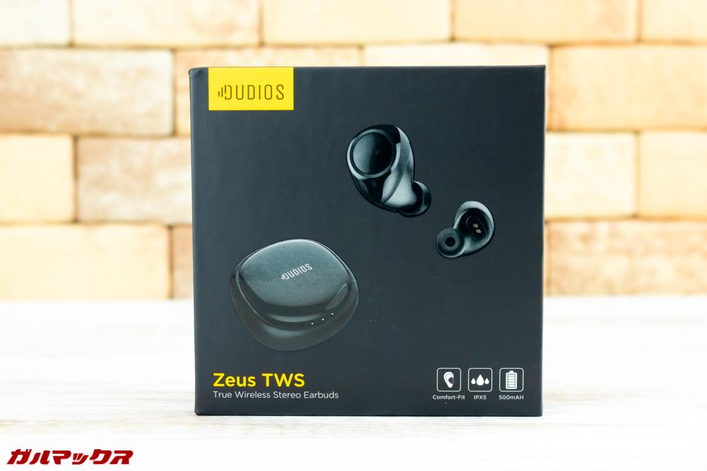 Dudios Zeus TWSの外箱はカッコいいブラックボックス