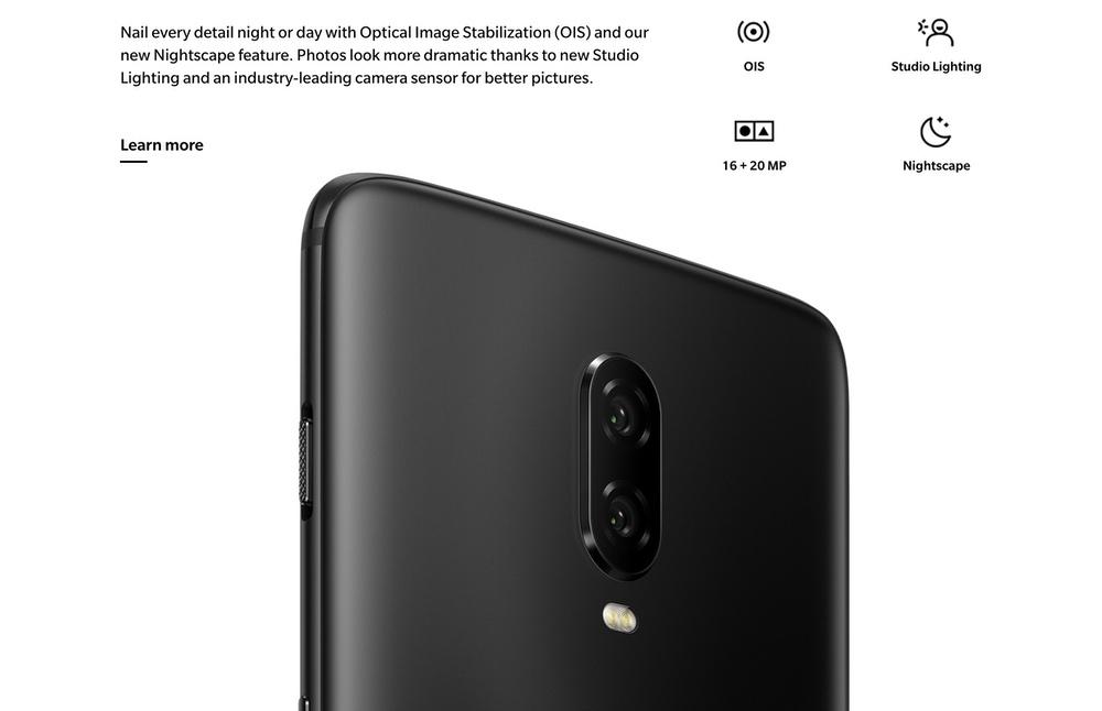 OnePlus 6Tはデュアルカメラを搭載