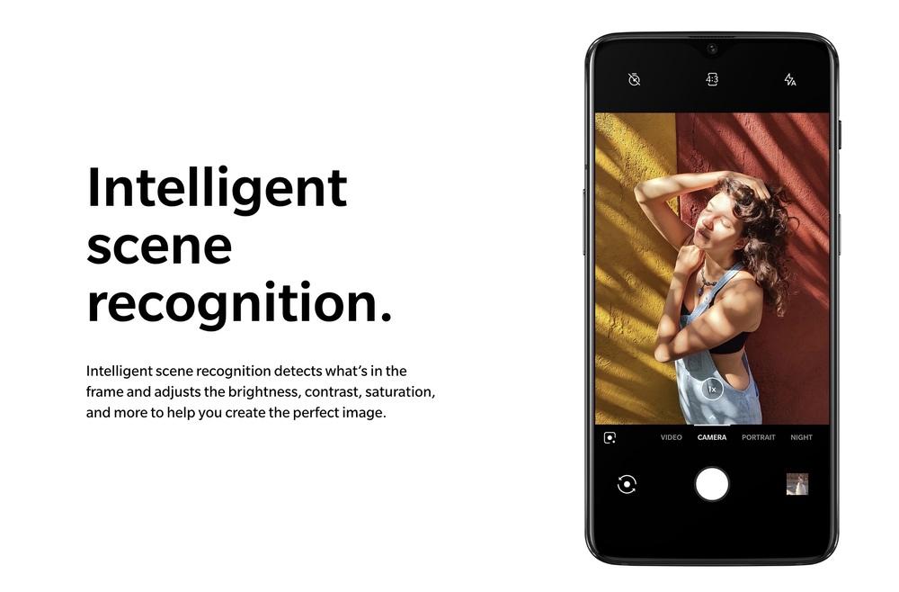 OnePlus 6Tはカメラがシーンを自動認識して画質調整してくれます。