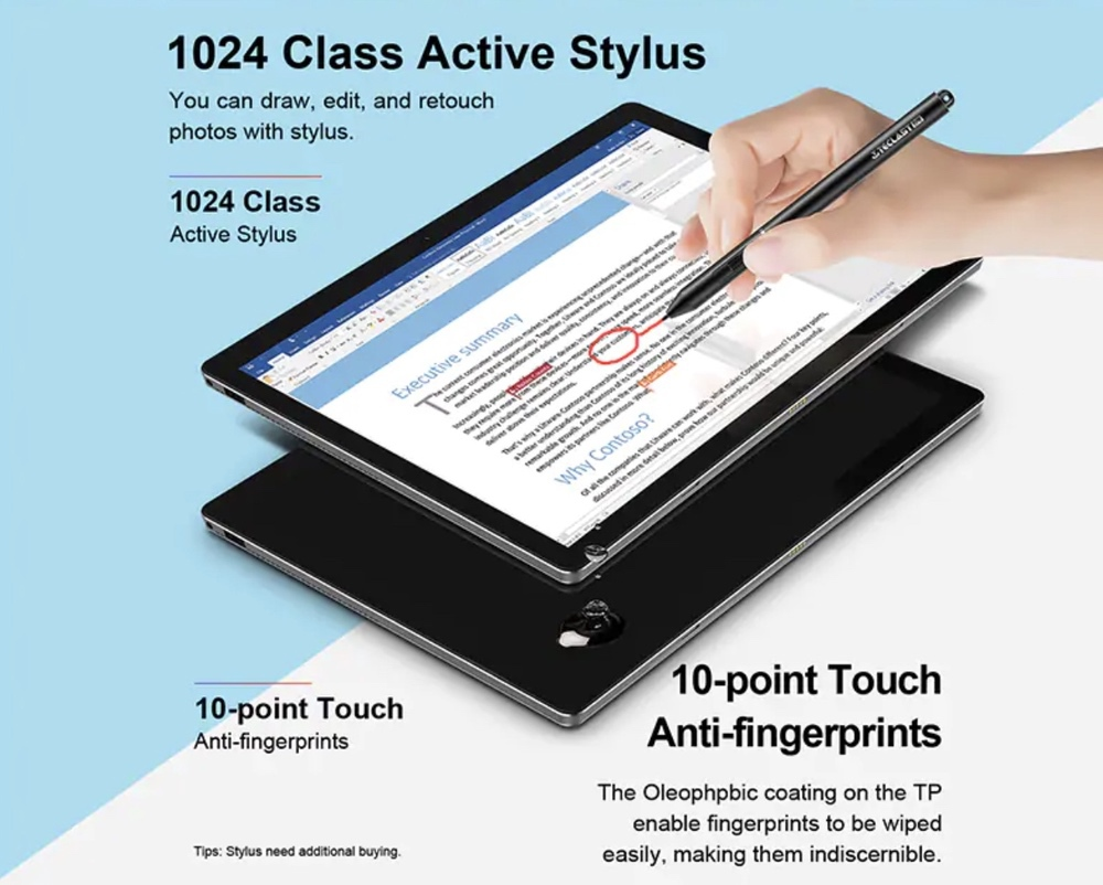Teclast X6 Proは感圧式のsutairasuペン入力に対応しています!