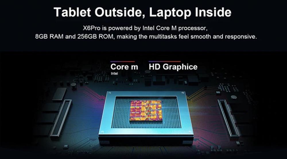 Teclast X6 Proは処理性能の高いm3-7Y30を採用。