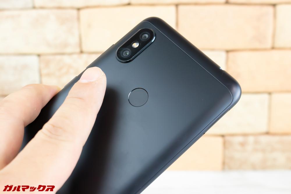 Xiaomi Redmi Note 6 Proの指紋認証はスピートも精度も高い。