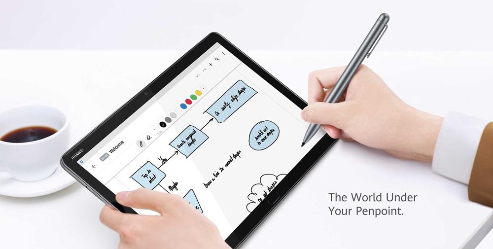 Huawei MediaPad M5 liteは専用ペンで2048段階の感圧入力が可能。