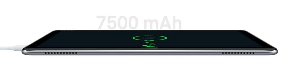 Huawei MediaPad M5 liteは大容量バッテリーを搭載しており長時間駆動できるほか、充電時間も超急速充電機で速い。