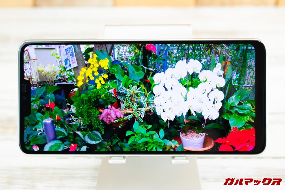 Android One X5のディスプレイは3,120×1,440の超高解像度パネルを採用しています。非常に高精細な映像を楽しめます。