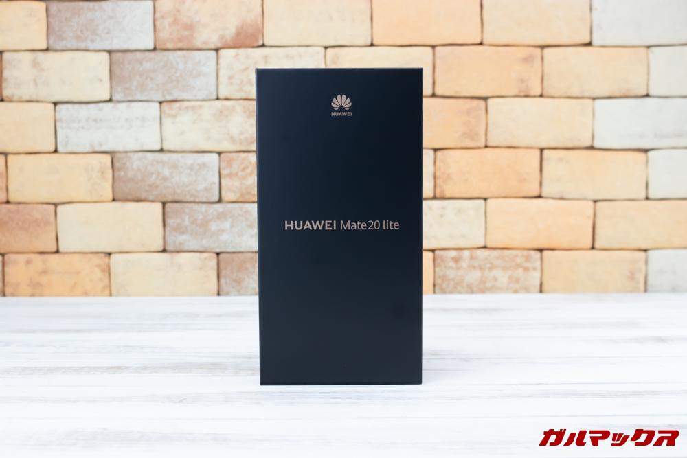 Huawei Mate 20 liteの外箱はブラックボックス。
