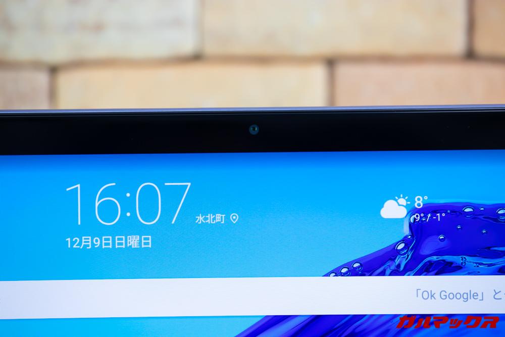Huawei MediaPad M5 liteにはインカメラが搭載されています。