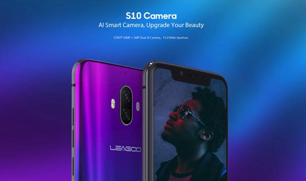 LEAGOO S10はAIデュアルカメラを搭載。