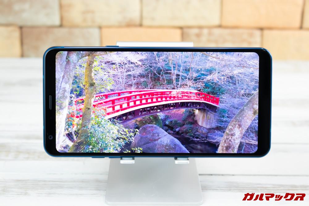 LG Q StylusはLG制のディスプレイを搭載しており、発色も良く高画質です。