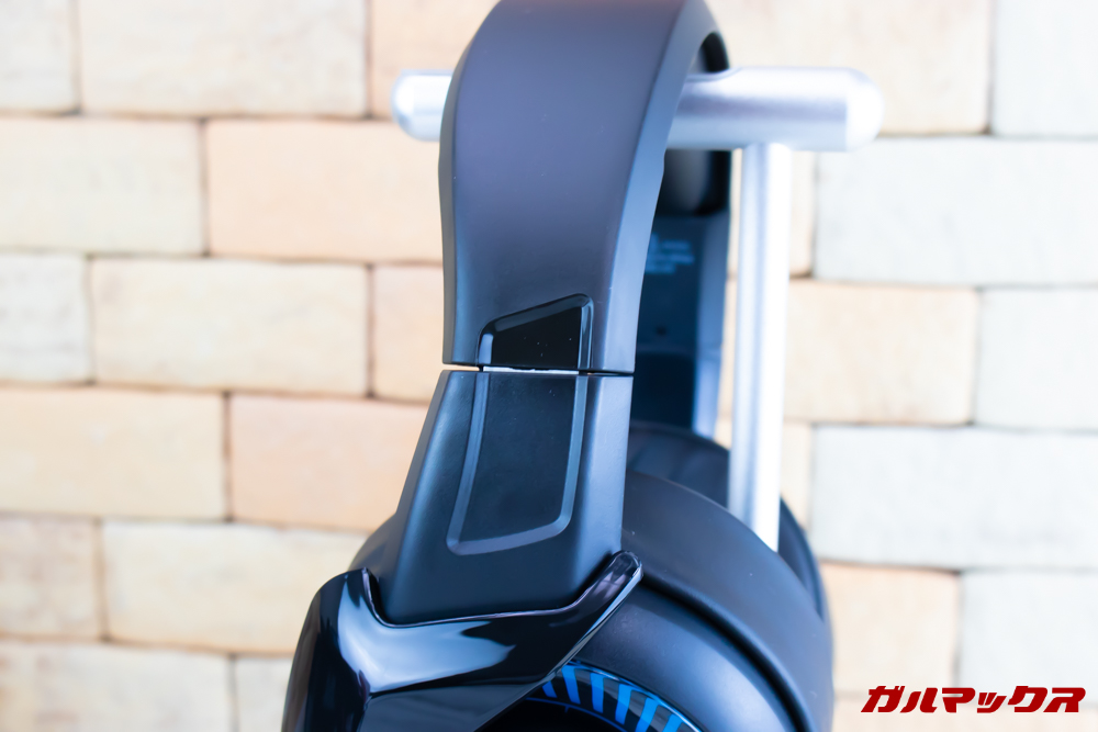 ONIKUMA K6は可動する部分に金属パーツを採用