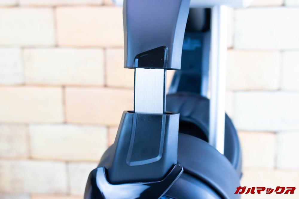 ONIKUMA K6可動部分に金属パーツを採用しているので耐久性も高そうです。
